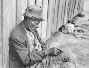 """The Whittler,"" an old Negro man (ex-slave) Camden, Alabama"