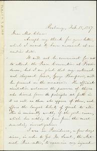 Letter from William Lloyd Garrison, Roxbury, [Mass.], to Mrs. Chace, Feb. 18, 1867