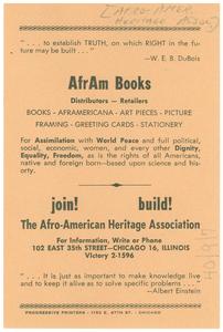 AfrAm Books flier