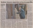"""Bolden"" donates materials to local nonprofits"