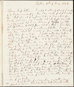 Letter from Richard Davis Webb, Dublin, [Ireland], to Mary Anne Estlin, 1851 May 18