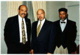 Photograph of Lou Bellamy, August Wilson, and Claude Purdy