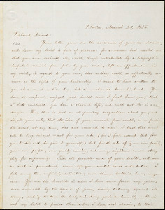 Letter from William Lloyd Garrison, Boston, [Mass.], to Samuel Joseph May, March 21, 1856