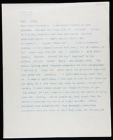 Typed letter signed, 1943 September 30, London to Viola, Tenafly, New Jersey