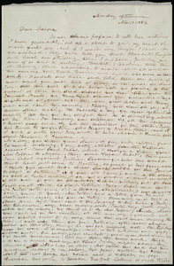 Letter from Emma Forbes Weston to Deborah Weston, Monday afternoon, Nov. 13 [through Tuesday, Nov. 14], 1842