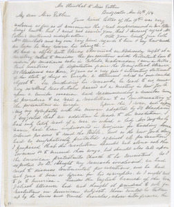 Letter from S. Alfred Steinthal, Bridgewater, [England], to Mary Anne Estlin, 1854 Nov[ember] 24