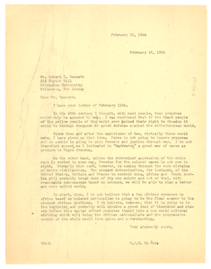 Letter from W. E. B. Du Bois to Robert C. Bennett