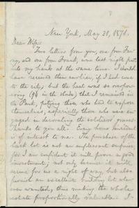 Letter from William Lloyd Garrison, New York, to Helen Eliza Garrison, May 31, 1871