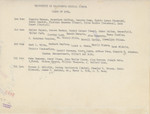 School of Medicine Class [Verso]