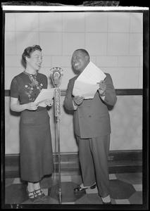 Ruth Moss and Louis Armstrong at WAAB