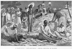 "A plantation ""corn-shucking""-social meetings of slaves"