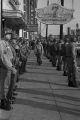 National Guard members outside the Trailways station in downtown Montgomery, Alabama, protecting the bus for the Freedom Riders that will be leaving for Jackson, Mississippi.