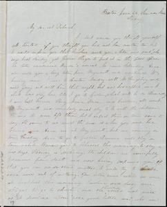 Letter from Lucia Weston, Boston, Summer Street, [Mass.], to Deborah Weston, June 24, [1842], Friday