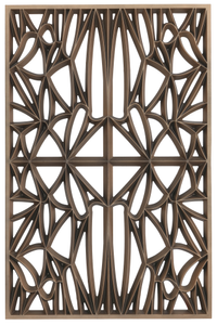 Corona panel designed for NMAAHC (Type A: 65% opacity)