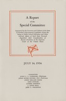 A Report of the Special Committee: Appointed by the Governor and Cabinet of the State of Florida to Recommend Legislative Action Relating to Public School Education and Other Internal Affairs of Such State Deemed Expedient After Consideration of Recent Decisions of the Supreme Court of the United States