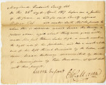 Affidavit Confirming that Isaac Holloway was Manumitted by Peter Benedum, 1817 April 25