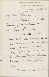 Letter from James Miller M'Kim, Philadelphia, [Pa.], to William Lloyd Garrison, May 14th [1864]