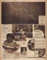 Photomontage of lightning, children eating watermelon, and ads. Nashville Tennessean, 1930 August 3.
