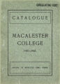 Seventeenth Annual Catalogue of Macalester College and Classical Academy 1901-1902, St. Paul, Minnesota