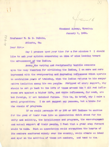 Letter from F. A. McKenzie to W. E. B. Du Bois