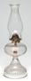 Pressed glass kerosene lamp used by Oscar C. Howard as boy