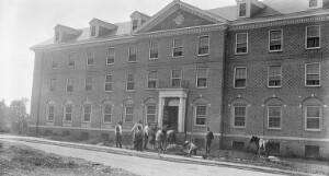 Saint Paul's Normal and Industrial School. New dormitory for girls. Emery hall.