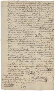 Bill of sale signed by Benjamin Dolbeare as administrator of the estate of Nathaniel Loring to Benjamin Williams regarding Boston (a slave), 1 June 1774