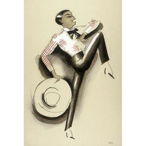 Le Tumulte Noir/Dancing Woman with Large Hat