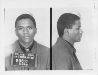 Mississippi State Sovereignty Commission photograph of Larry Hunter following his arrest for his participation in the Freedom Rides, Jackson, Mississippi, 1961 May 28