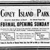 Coney Island Park ad