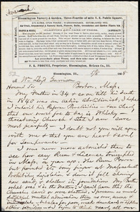 Letter from Franklin Kelsey Phoenix, Bloomington, Ill., to William Lloyd Garrison, [May] / 8 1868