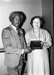Isadore Breaux receiving an award from the California Association of School Psychologists, Los Angeles, 1985