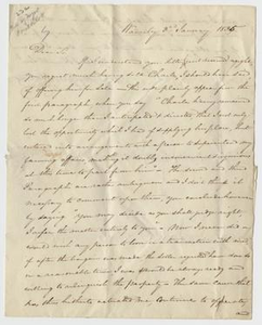[Letter to William Stone from Morgan Harris, January 3, 1835]