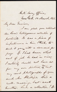 Letter from Oliver Johnson, New York, [N.Y.], to William Lloyd Garrison, 14 March, 1862
