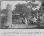 Hauts-fourneaux Sonraï du Gorouol sérvant a preparer les lingots de fer en usage chez les Touareg du Niger