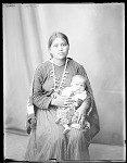 Front view of mother and baby 1904