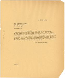 Letter from W. E. B. Du Bois to Edward Laroque Tinker