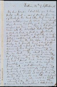 Letter from Richard Davis Webb, Dublin, [Ireland], to Caroline Weston, 24th of September [18]51