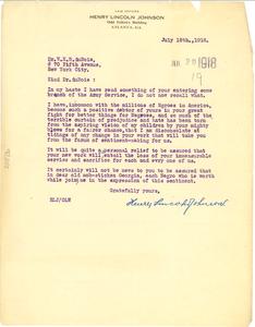 Letter from Henry Lincoln Johnson to W. E. B. Du Bois