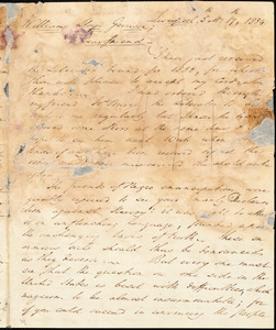 Letter from James Cropper, Liverpool, [England], to William Lloyd Garrison, 1834 [May] 17th