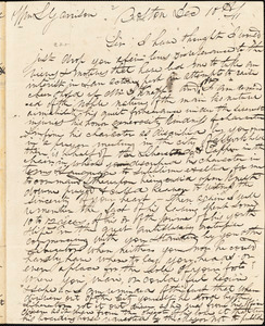 Letter from John Cutts Smith, Boston, [Massachusetts], to William Lloyd Garrison, 1841 Dec[ember] 10