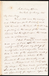 Letter from Oliver Johnson, New York, [N.Y.], to Samuel May, Jr., 17 May, 1865