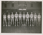 The Washington Bears basketball team with Pop Gates standing third from right
