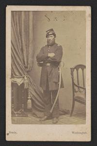 [Captain Hezekiah Easton of Battery A, 1st Pennsylvania Light Artillery Regiment in uniform with saber]