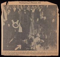 Thanksgiving in Missouri, 1933