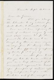 Letter to] Dear Mr. Garrison [manuscript