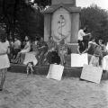 Anti-war demonstration at Woodrow Wilson Park in Birmingham, Alabama.