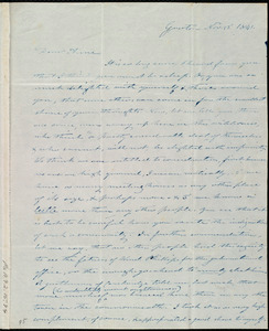 Letter from Amos Farnsworth, Groton, [Mass.], to Anne Warren Weston, Nov. 22, 1841