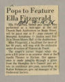 """Pops to Feature Ella Fitzgerald"""