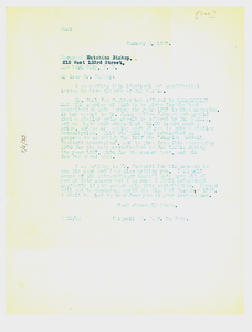 Letter from W. E. B. Du Bois to Reverend Hutchens Bishop